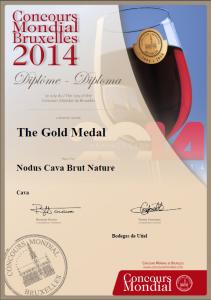 Gouden médaille Cava Nodus brut nature